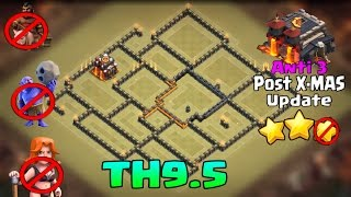 Download Clash of Clans - Th 9.5 War base | Anti Bowlers & Hogs | Anti 3 Star | Post Xmas Update Video