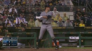 Download CLE@PIT: Bauer uses his teammates' batting stances Video