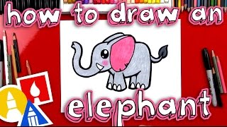 Download How To Draw A Cartoon Elephant Video