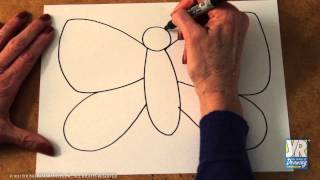 Download Teaching Kids to Draw: How to Draw a Butterfly Video