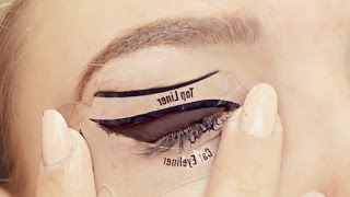 Download Testing Cat Eyeliner Stencils- Do They Work? Video