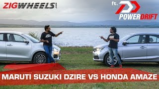 Download Honda Amaze vs Maruti Suzuki Dzire: The Chosen One | ft. PowerDrift | ZigWheels Video