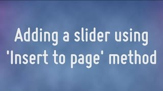 Download Adding the WOWSlider to your website Video