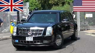 Download President Donald & Melania Trump in London! - Secret Service, Escorts and Aircraft! Video