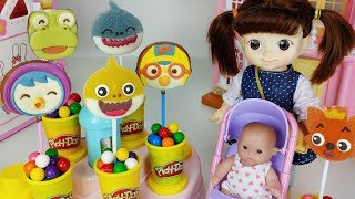 Download Baby Shark jelly and pororo Chocolate and Play doh surprise cooking toys baby Doll play - 토이몽 Video