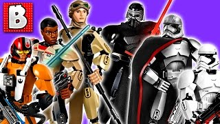 Download All Six Lego Star Wars Buildable Figures! 2016 Kylo Ren Rey Finn Captian Phasma Poe Dameron Video
