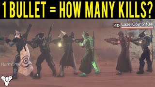 Download HOW MANY KILLS CAN YOU GET USING ONLY 1 BULLET WITH A SNIPER IN DESTINY? Video