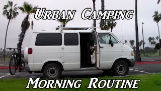 Download Urban Camping Morning Routine VanLife On the Road Video