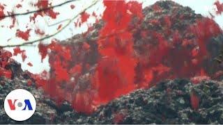 Download Hawaii Mount Kilauea's eruption opens new lava vent Video