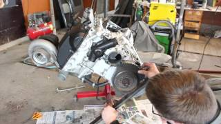 Download BMW e30 m52 turbo winter maintenance. Part 2 Engine disassembly Video