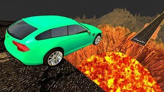 Download Beamng drive - Open Bridge Crashes over Volcano #1 (Jumping into Volcano Crashes) Video