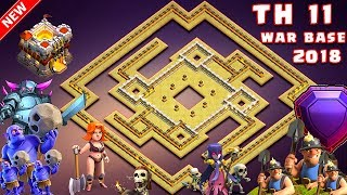 Download NEW TH11 War Base 2018 Anti 1 Star/Anti 2 Star With Replay Anti Bowler Anti Miner Anti Everything Video