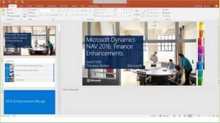 Download Microsoft Dynamics NAV 2016 Financial Enhancements Video