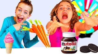 Download WEIRD FOOD COMBINATIONS MYSTERY WHEEL ft The Norris Nuts Video