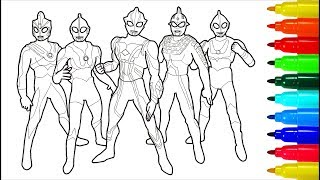 Ultraman Max Coloring Pages For Kids How To Color Ultraman Coloring