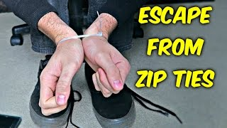 Download How to Escape from Zip Ties with Shoelaces Video
