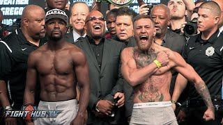 Download FULL & UNCUT - FLOYD MAYWEATHER VS CONOR MCGREGOR WEIGH IN & FACE OFF VIDEO Video