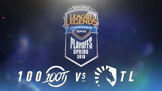 Download 100 vs. TL | NA LCS Spring Playoffs | Finals Game 1 | 100 Thieves vs. Team Liquid (2018) Video