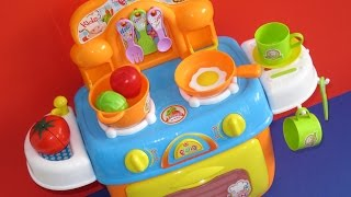 Download Learn colors names of vegetables toy kitchen velcro foods learn English Video