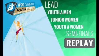 Download IFSC Youth World Championships -Arco 2019-LEAD-Semi-Finals -Youth A Men-Junior Women-Youth A Women Video