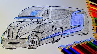 Download How to draw Gale Beaufort JACKSON STORM transporter CARS 3 Video