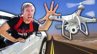 Download TESLA vs HACKER DRONE BATTLE (Hidden Secret Tunnel Car Chase) Video