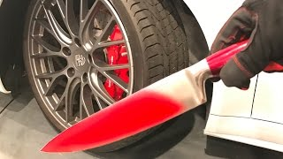 Download GLOWING HOT KNIFE vs. CAR TIRE! Video