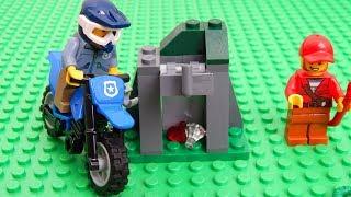 Download Машинки Игрушки Мультики про Лего Город машинок 302: Полицейский мотоцикл. Мультфильм для детей Video