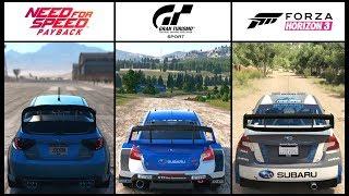 Download NFS Payback VS GT Sport VS Forza Horizon 3 - SUBARU RALLY BATTLE Video