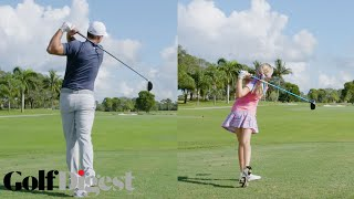 Download Brooks Koepka Battles 10-Year-Old Girl Madison Moman in a 5-Round Golf Challenge | Golf Digest Video