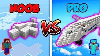 Download Minecraft NOOB vs. PRO: AIRPLANE BATTLE in Minecraft! Video
