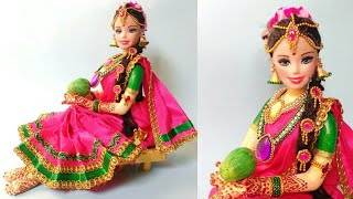 Download Doll-6 | Newspaper Doll | South Indian Bridal Making | Best Out Of Waste | DIY | By Punekar Sneha Video