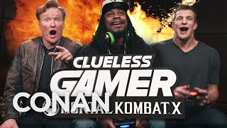 Download Marshawn Lynch and Rob Gronkowski Play ″Mortal Kombat X″ With Conan O'Brien Video