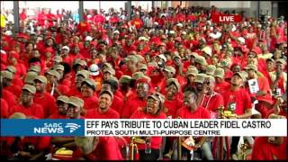Download Julius Malema pays tribute to Fidel Castro Video