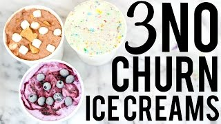 Download 3 NO CHURN ICE CREAM RECIPES: BAKING WITH MEGHAN Video