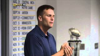 Download Tom Brady Visits Michigan Athletic Campus Video