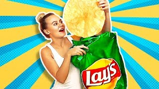 Download 38 HILARIOUS PRANKS AND CRAFTS || GIANT LAY'S CHIPS Video