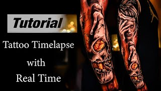 Download Full Sleeve in 4Days - Tattoo Timelapse with Real time Part1 Video