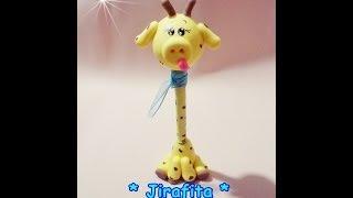 Download Manualidades en porcelana fria FACILES- Jirafa paso a paso - DIY Penholder giraffe Cold porcelain Video