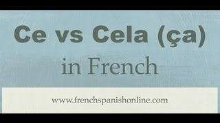 Download Ce vs Cela (or ça) in French Video