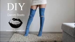 Download DIY Denim Boots | Tijana Arsenijevic Video