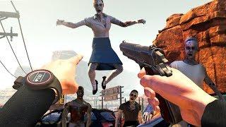 Download My FAVORITE VIRTUAL REALITY Zombie Apocalypse Game (Arizona Sunshine Funny Moments) Video