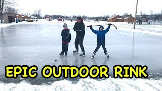 Download Kids HocKey Adventure to Find perfect Sheet of Outdoor Hockey Ice Video