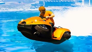 Download NEW EXTREME HOVERCRAFT RACE! (GTA 5 Funny Moments) Video
