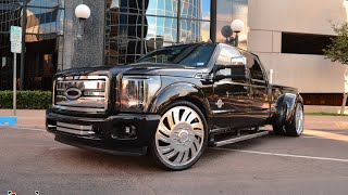 Download Dropped and deleted 2014 F350 Dually on 26 inch Forgiato wheels! Video