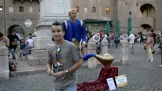 Download Genie Magic Lamp Levitation   Street Performer Video