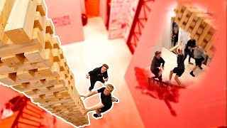 Download WORLDS BIGGEST GAME OF JENGA (INSANE TOWER FALL) Video