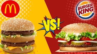 Download McDonald's Big Mac vs BK Whopper Video