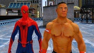 Download The Amazing Spiderman vs John Cena - WWE Superstar vs Spiderman Video