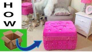 Download Never waste cardboard after watching it.Real furniture ottoman from cardboard Video